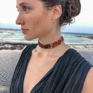collar cornalina