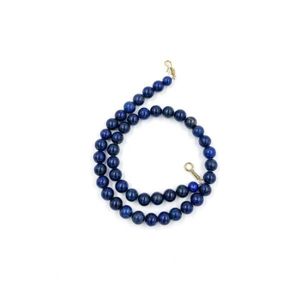 collar artesanal lapislázuli
